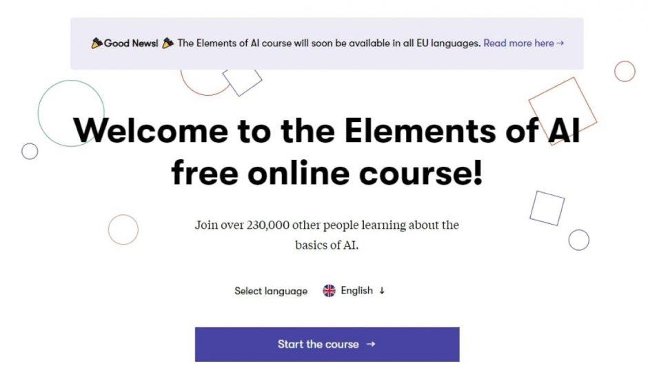 page d'accueil de The Element of IA