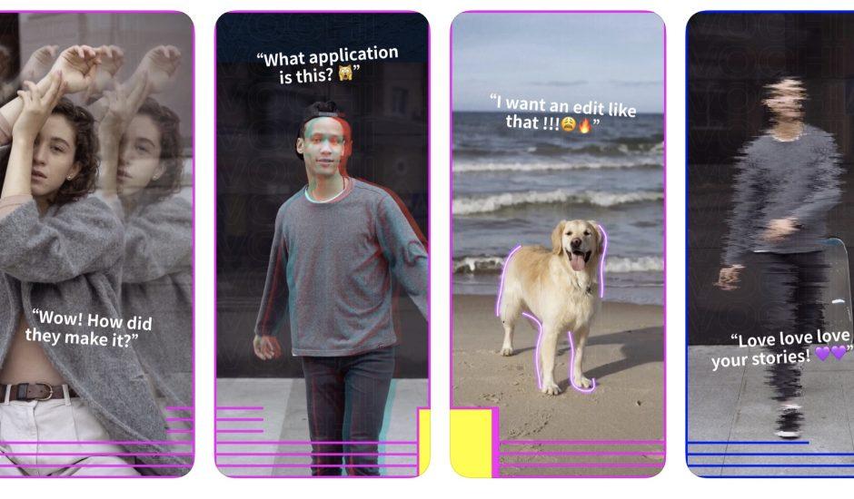 aperçu de l'application Vochi Video Effects