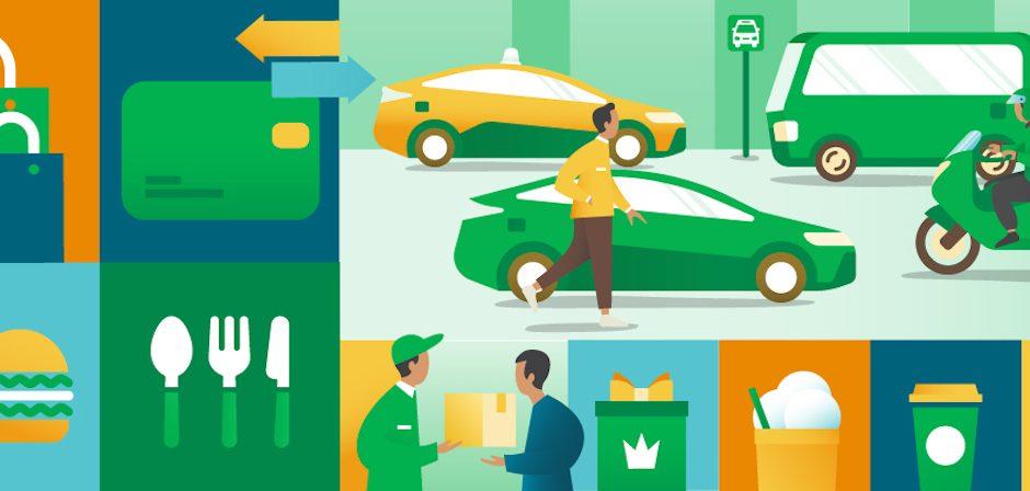 Grab service de taxi, de livraison et de paiements