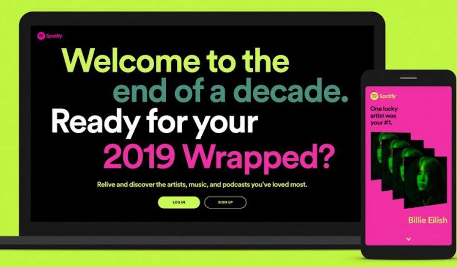 Spotify Wrapped 2019.