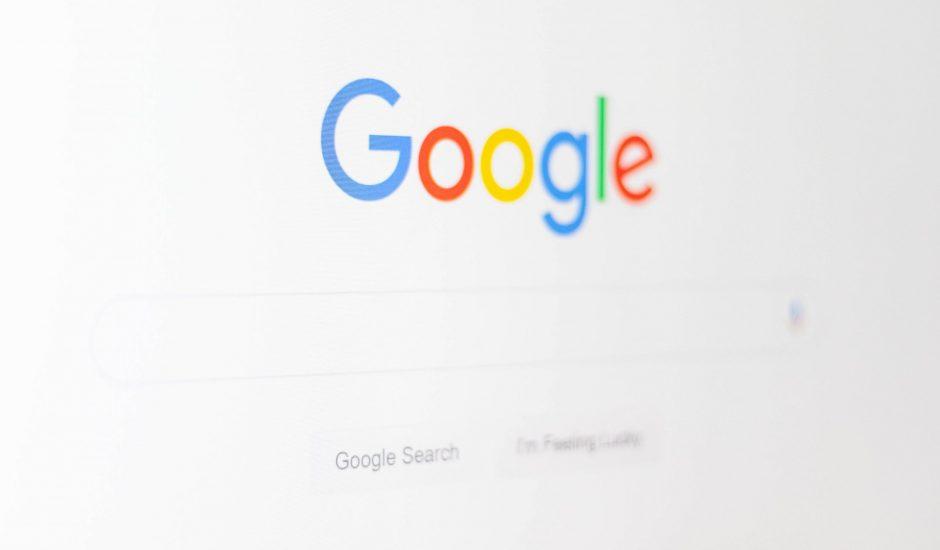Interface de Google.