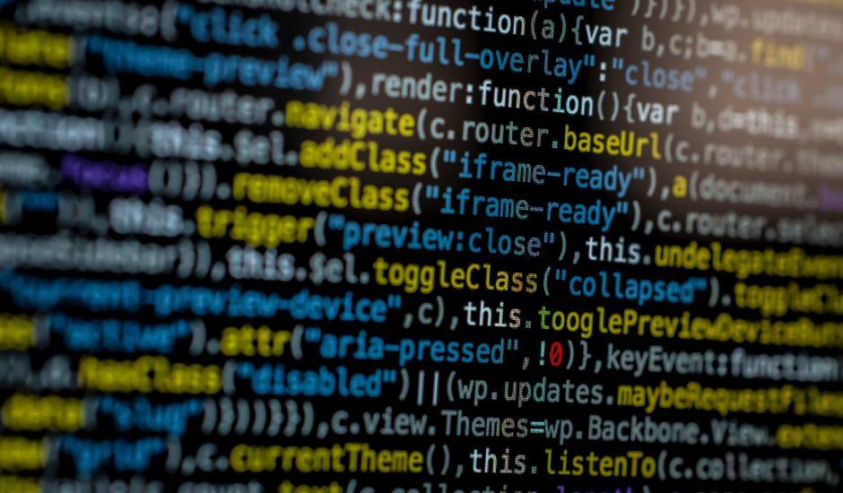 Image de code internet sur un ordinateur.