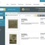 Paris Musées : l'interface du portal des musées de Paris