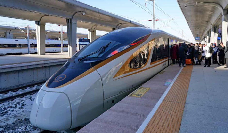 Un train autonome à grande vitesse en Chine.