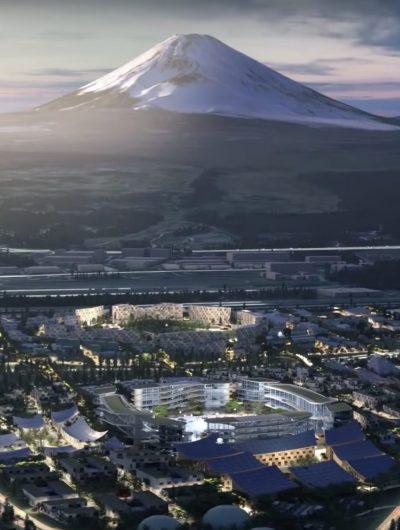 Woven City sera au pied du mont Fuji.