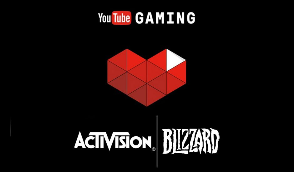 Les logos YouTube Gaming et Activision Blizzard