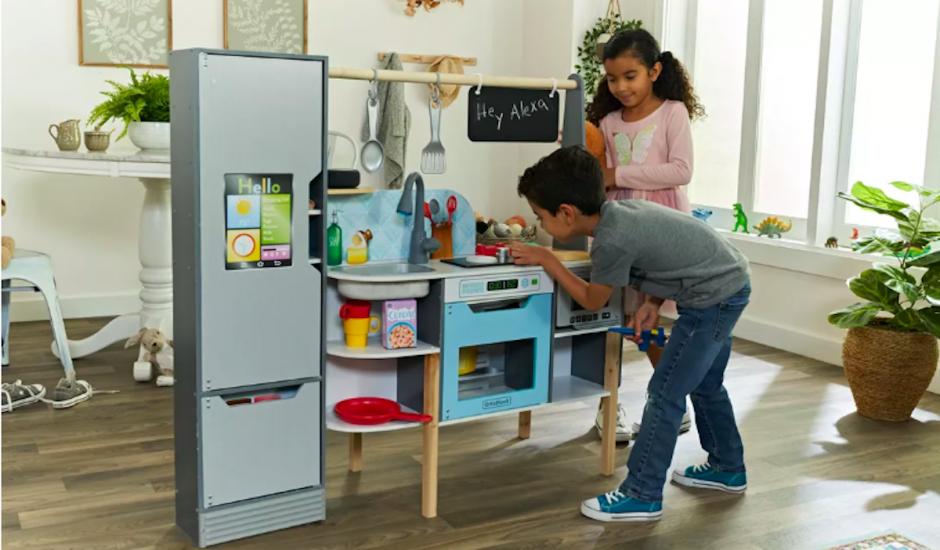 Amazon et Kidkraft cuisine connectée