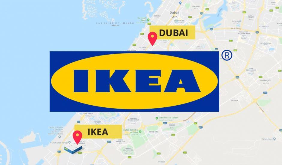 Ikea : le trajet séparant le centre de Dubai au magasin IKEA le plus proche.