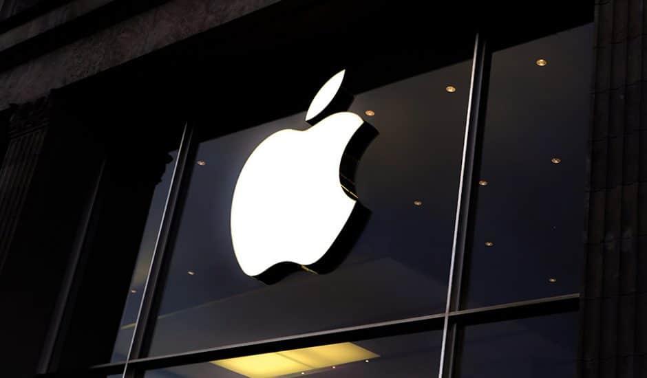 La devanture d'un magasin Apple Store