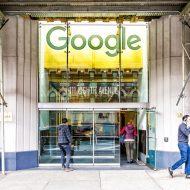 logo google sur un immeuble