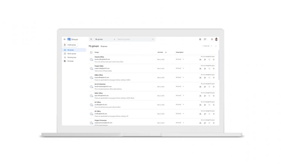 Le nouveau design de Google Groupes