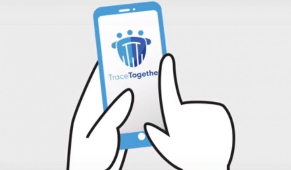 TraceTogether une application