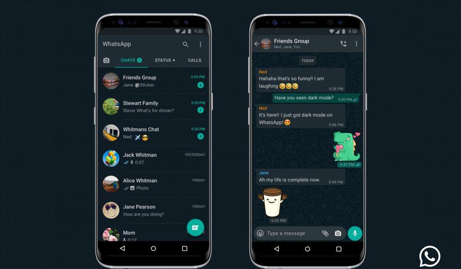 Le dark mode est enfin déployé sur WhatsApp