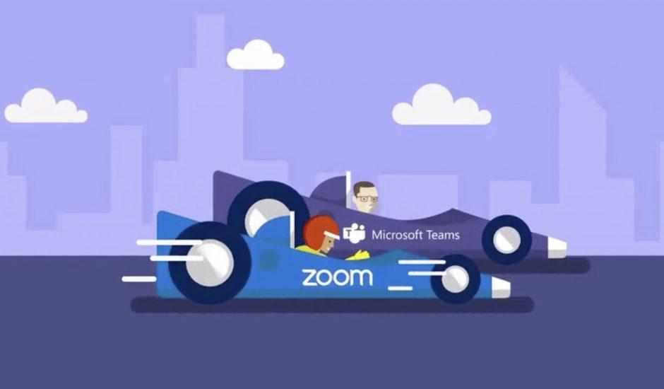 Zoom devient une menace pour Microsoft.