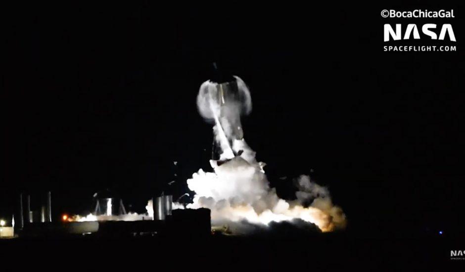 Starship a explosé au cours d'un test.