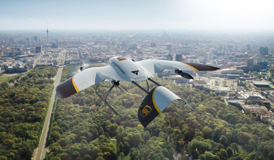 UPS et Wingcopter s'associent.