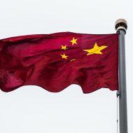 Un drapeau de la Chine flottant
