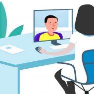 Illustration d'une téléconsultation.