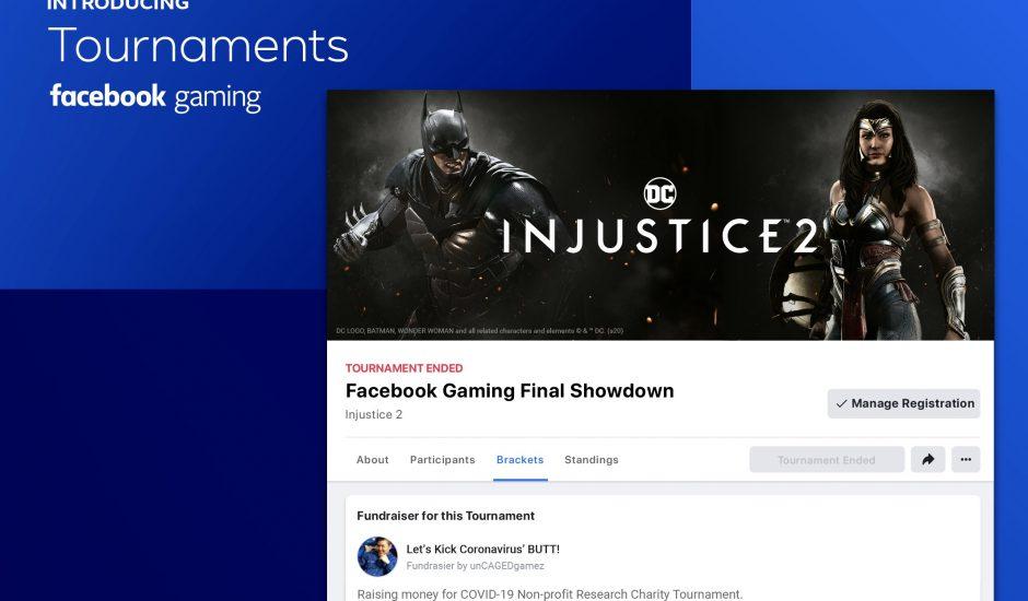 Tournois est désormais disponible sur Facebook Gaming.