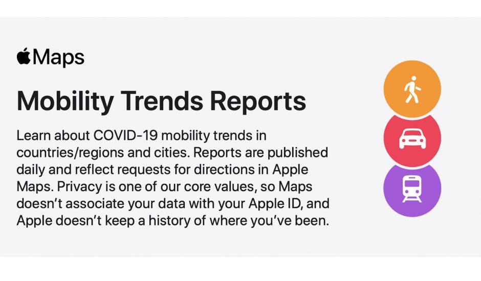 Mobility Trends : l'outil d'Apple pour suivre l'évolution des déplacements.