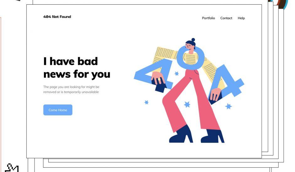 exemple d'illustrations proposées par 404 Illustrations