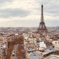 Une vue aérienne de Paris