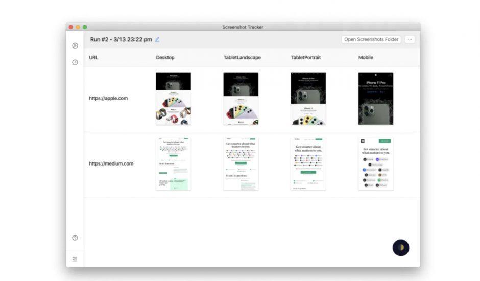 aperçu des enregistrements via Screenshot Tracker