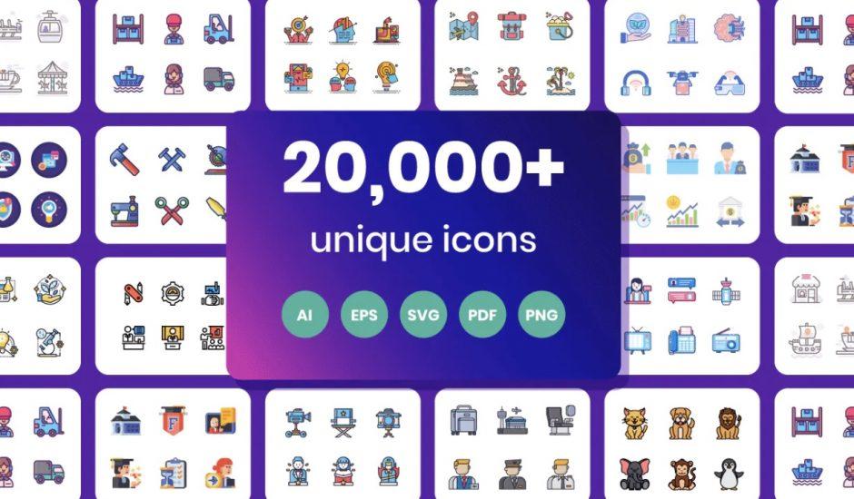 Les icônes proposés par Flat Icons