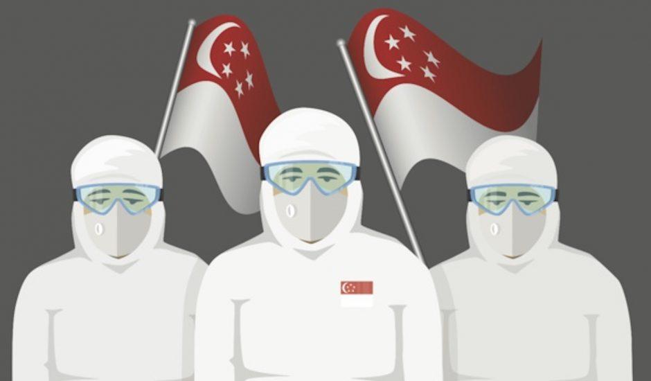 Illustration des médecins singapouriens.