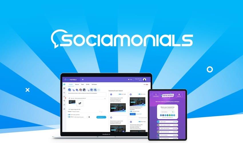 Aperçu de l'outil SocialMonials