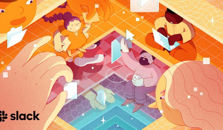 Illustration de Slack Connect.