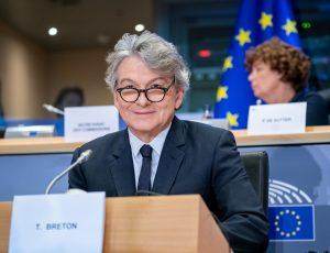 Thierry Breton au Parlement européen