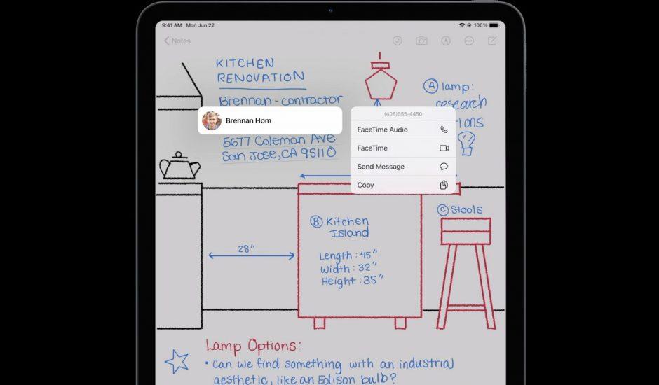 Aperçu de Scribble, la nouvelle fonctionnalité de l'iPadOS 14.