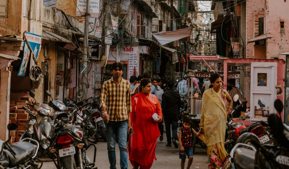 Une rue en Inde.