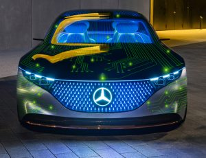 Image d'un véhicule Mercedes nouvelle génération.