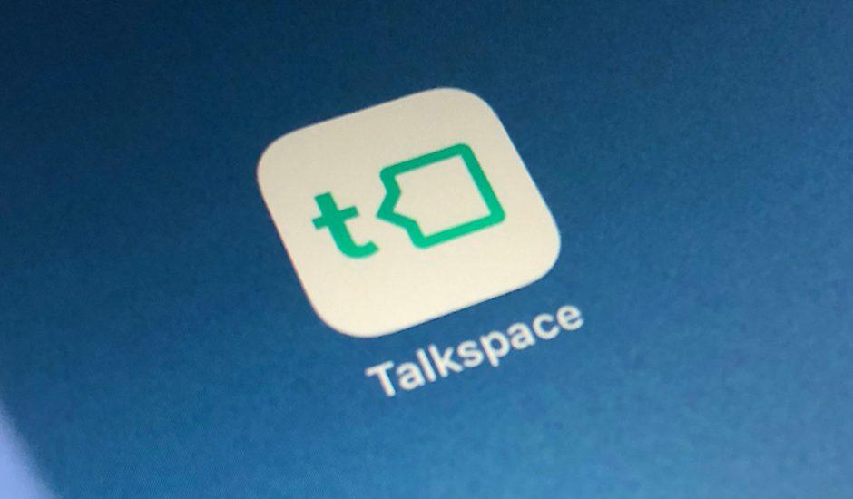 Aperçu de l'application de Talkspace.
