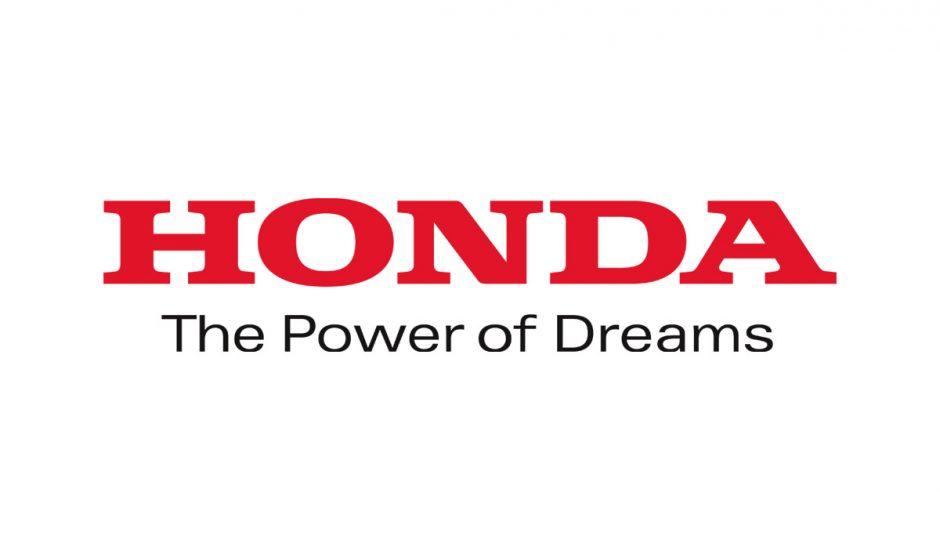 Le logo et le slogan de Honda sur un fond blanc.