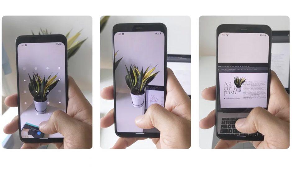 utilisation de l'application AR Copy Paste