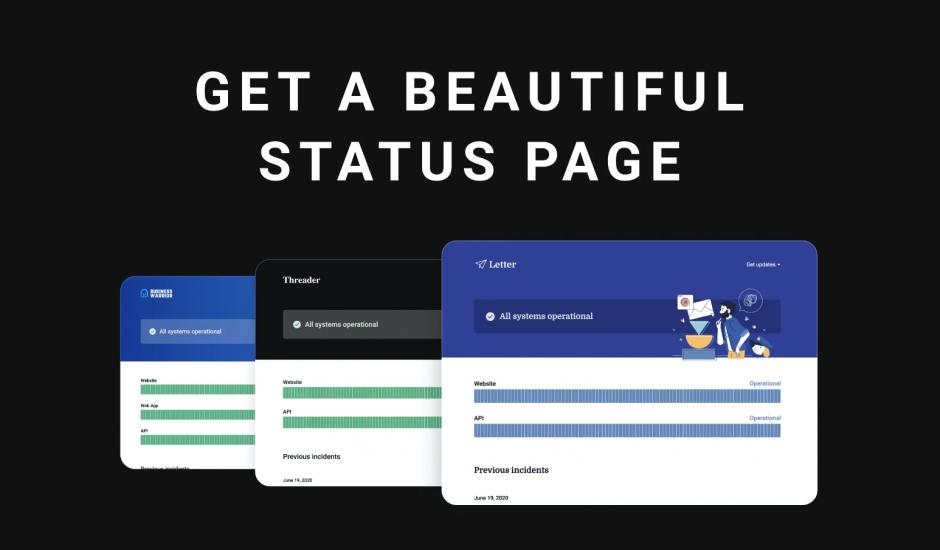 pages de statut créées sous Instatus
