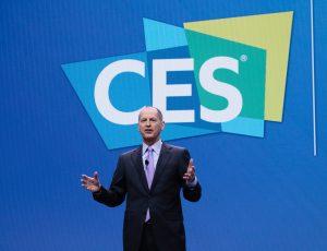 CES logo et Gary Shapiro le PDG de la CTA