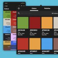 liste de couleurs enregistrées dans l'application Litur