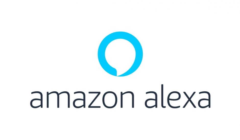 Le logo Amazon Alexa sur fond blanc.