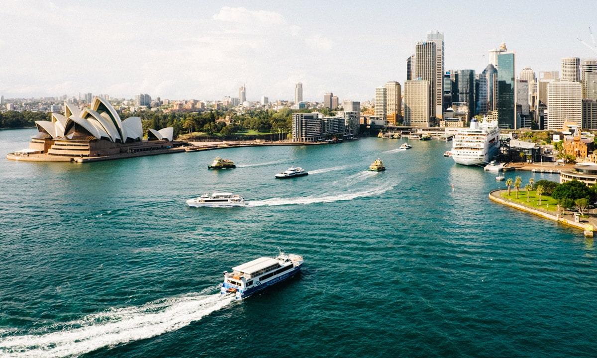 Vue aérienne de la ville de Sydney en Australie
