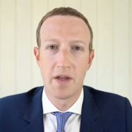 Mark Zuckerberg PDG de Facebook, pendant l'audition antitrust.