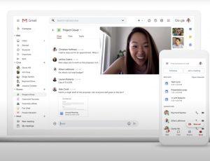 Aperçu des nouvelles interfaces Gmail sur ordinateur et mobile.