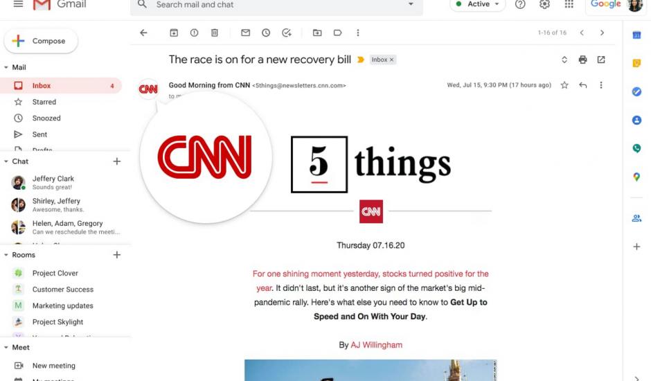 identification de CNN sur un mail