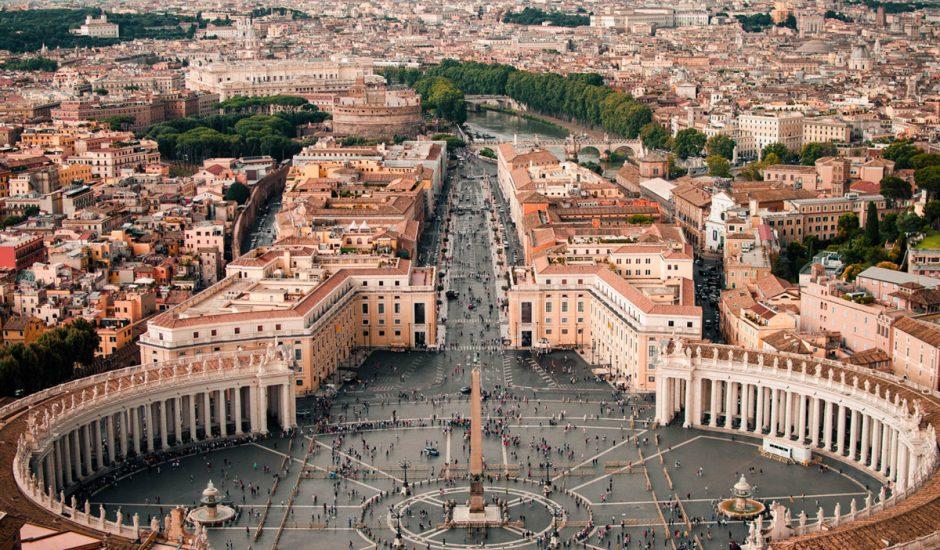 Vue aérienne de la ville du Vatican
