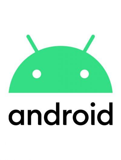 Le logo Android sur fond blanc.