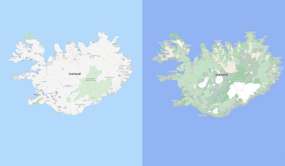Comparaison des nouvelles cartes Google Maps