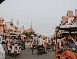 Aperçu d'une route en Inde.